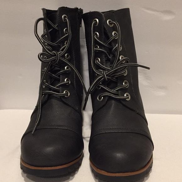 56ad293564c Esprit Shoes - Esprit Wedge Combat Boots